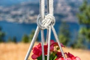 diy macrame plant hanger, jospehine knot image