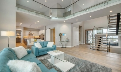 AuthenTech Homes - Kelowna New Homes, Wilden Showhome Living Room