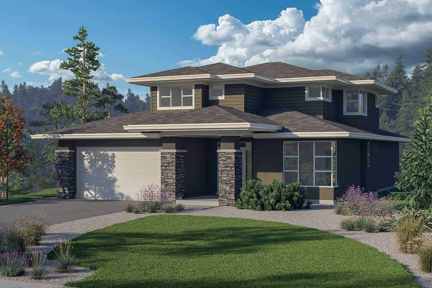 Bewburch Home Plan by Jenish Design Ltd. rendering