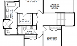 Monashee floor plan - Upstairs