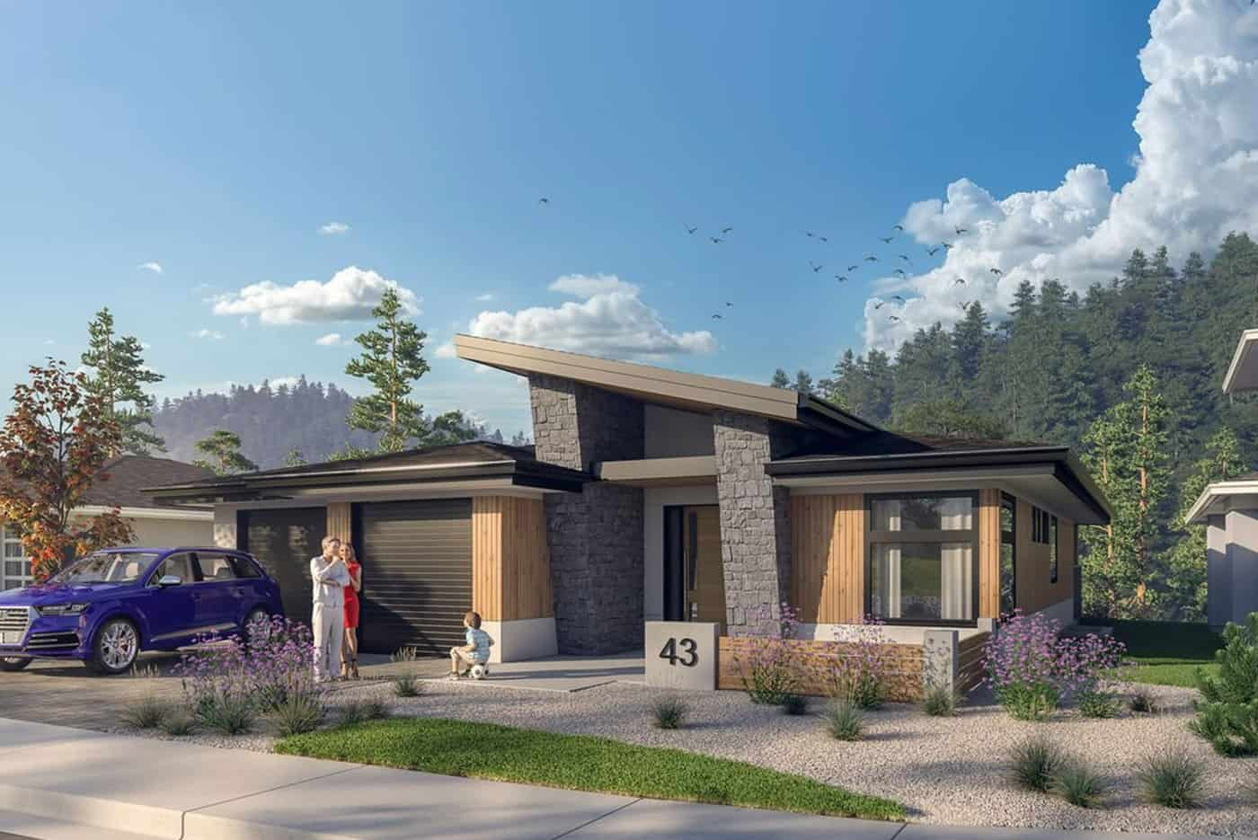 New Okanagan Modern Home Plans - Echo Ridge Kelowna