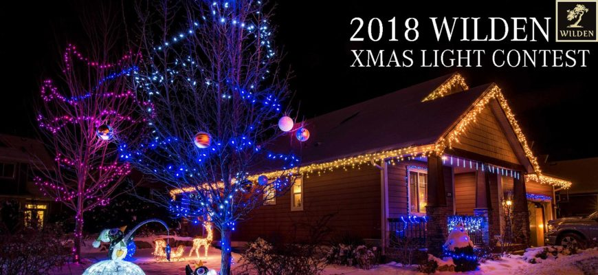 The 2018 Wilden XMAS Light Contest is here!