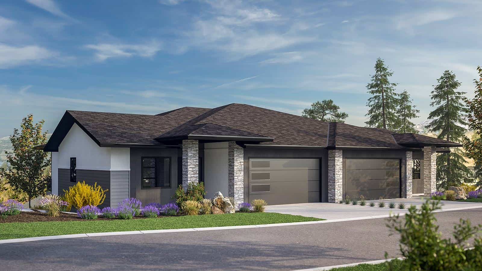 Lost Creek Point Townhomes Staccato Unit Rendering