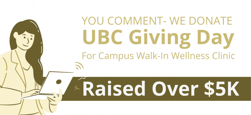 UBC Giving Day for Wellness Walk-in Clinic